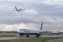 Avions de British Airways Image stock