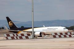Avions de cargaison d'UPS Image libre de droits