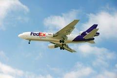 Avions de cargaison de Fedex Images libres de droits