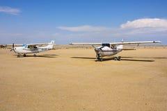Avions de Cessna en Namibie Images stock