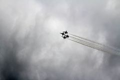 Avions de chasse d'anges bleus Image libre de droits