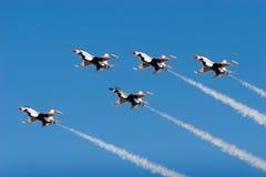 Avions de chasse de F-16 Thunderbird Photos libres de droits