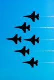 Avions de chasse F-16 Image libre de droits