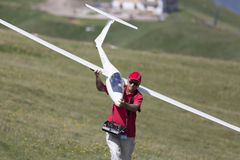 Avions de contrôle par radio Image libre de droits