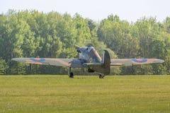 Avions de cru de Hurricane de colporteur image libre de droits