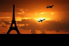 avions de départ de Paris illustration de vecteur