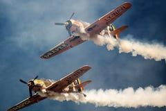 Avions de guerre de vintage Image libre de droits