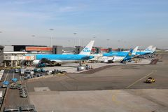 Avions de KLM Image stock