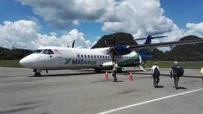 Avions de Maswings à l'aéroport de Mulu Photographie stock