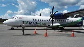 Avions de Maswings à l'aéroport de Mulu Photo libre de droits