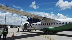 Avions de Maswings ATR-72 Photographie stock