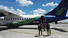 Avions de Maswings ATR-72 Photos libres de droits