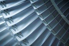 Avions de moteur à réaction de lames de turbine de turbines Image libre de droits