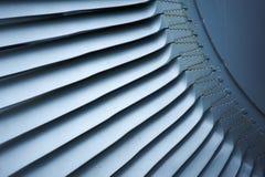 Avions de moteur à réaction de lames de turbine de turbines Photos stock