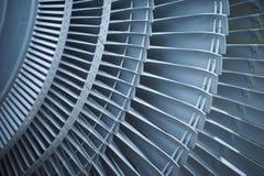Avions de moteur à réaction de lames de turbine de turbines Images libres de droits