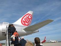 Avions de Niki Airlines Image libre de droits