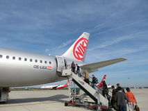 Avions de Niki Airlines Photos stock