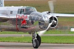 Avions de Nord-américain B-25 Mitchell Bomber de cru de la deuxième guerre mondiale exploités par la collection volante de taurea images stock