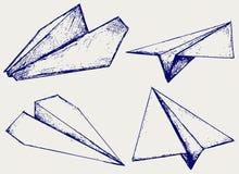 Avions de papier illustration stock