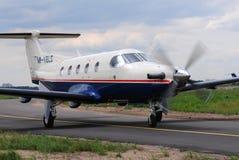 Avions de Pilatus PC-12s Photos libres de droits
