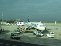 Avions de Ryanair Photo libre de droits