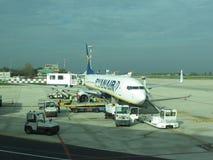 Avions de Ryanair Image libre de droits