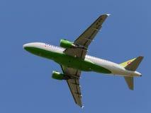 Avions de transport de passagers Airbus A-319-114 Photos libres de droits