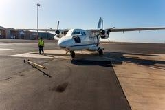 Avions de transport de passagers, Cap Vert, Afrique Photographie stock