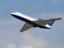 Avions de transport de passagers Yak-42D, Centre-Avia Images stock