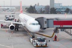Avions de Turkish Airlines Images libres de droits
