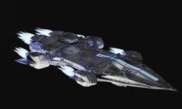 Avions de vaisseau spatial pour le rendu de la science-fiction 3d de la station thermale étrangère Illustration Stock