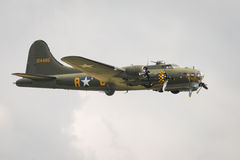 Avions de vintage de forteresse du vol B17 Image libre de droits