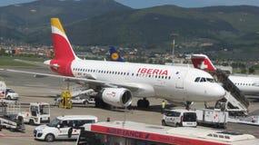 Avions de voies aériennes d'Ibérie Photos stock