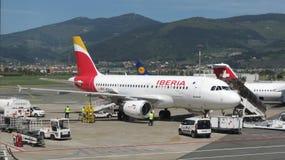Avions de voies aériennes d'Ibérie Photos libres de droits