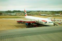 Avions de voies aériennes de Brithish Images libres de droits