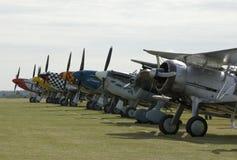Avions de WWII à l'airshow de Duxford Image stock