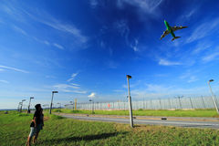 Avions en ciel Photographie stock libre de droits