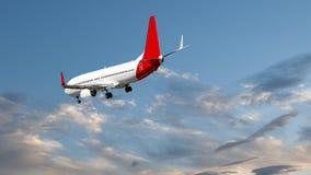Avions en vol avec le cumulus en ciel bleu l'australie photographie stock libre de droits