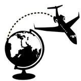 Avions et globe Images stock