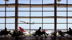 Avions et personnes d'aéroport Images libres de droits