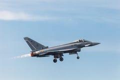 Avions Eurofighter Typhoon C-16 Images libres de droits