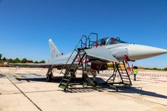 Avions Eurofighter Typhoon C-16 Image stock