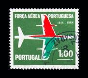 Avions, l'Armée de l'Air portugaise - 50 ans de serie, vers 1965 Images stock
