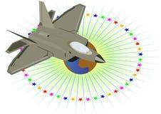 Avions militaires. Images libres de droits