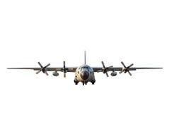 Avions militaires de cargaison sur le fond blanc Images libres de droits