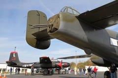 Avions militaires de la deuxième guerre mondiale sur l'affichage Photo libre de droits