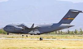 Avions militaires de transport de cargaison C-17 Photographie stock libre de droits