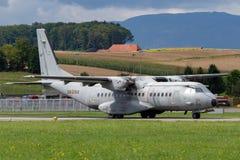 Avions militaires de transport de l'Armée de l'Air d'Ejercito de del de l'Aire de la MAISON C-295M de moteur espagnol de jumeau photo stock