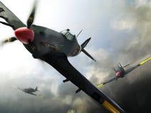 Avions (ouragan) en vol. Image libre de droits