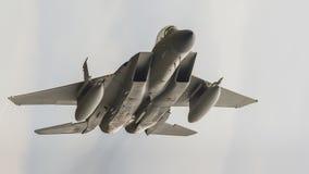 Avions ? r?action de F15 Eagle photographie stock libre de droits